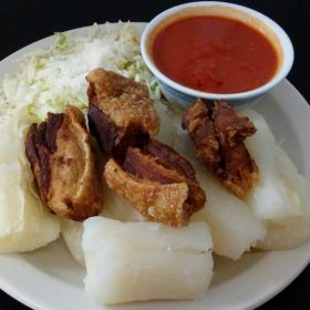 chicharron with yuca