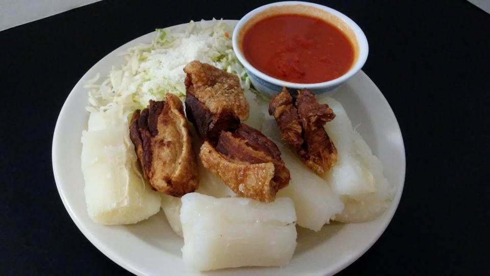 chicharron with yuca